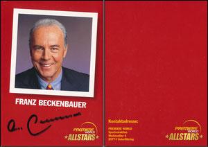 Beckenbauer, 2001, Premiere AllStars, ohne Druck-AG