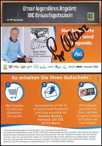 Maier, 2014, P&G, 'Edeka', Regalanhänger, signiert Maier im Jan. 2019