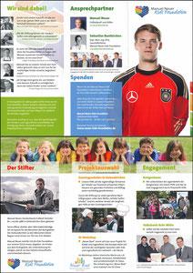 Neuer, 2011, 'Manuel-Neuer-Kids-Foundation'; Klappfolder