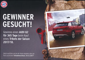 FanShop, 2017, Gewinnspiel 'Audi Q2', A4