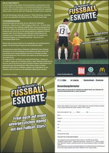 Ballack, 2004, McDonalds, 'Fußball-Eskorte', Klappkarte