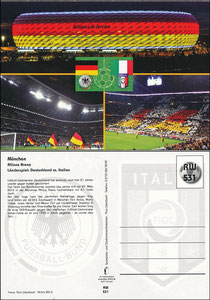 Allianz Arena, 2016, Länderspiel Deutschland - Italien, RW-Karte