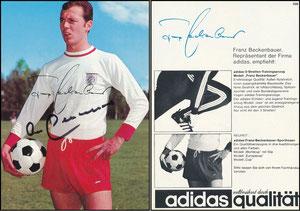 Beckenbauer, 1968, Adidas 'Weltberühmt durch Qualität', Motiv 1