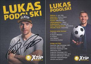 Podolski, 2018, XTip (erste Promokarte von Poldi für XTip)