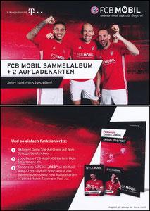Bayern München, 2016, FCB Mobil 'Sammelkarten 2016-17'