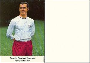 Bergmann, 1969, Beckenbauer, Rückseite blanko