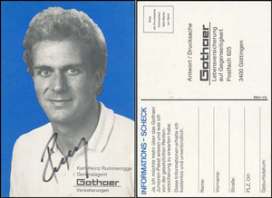 Rummenigge, 1981, Gothaer 'Informations-Scheck'