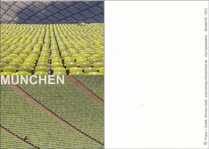 Postkarte, 2000er, Olympiastadion München, Blickpunktwechsel-Karte