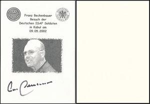 Beckenbauer, 2002, ISAF Kabul