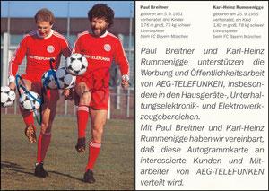 Gemeinschaftskarte, 1982, Rummenigge-Breitner, 'Telefunken'