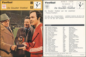 'Der goldene Ball', Belgien, 1977, 0086-1030-11-258