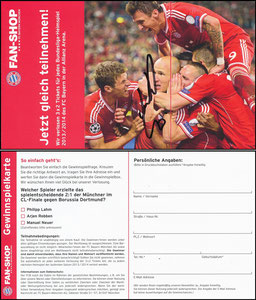 FanShop, 2013, Klappkarte, signiert Robben im Febr. 2019
