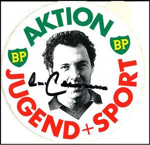 Beckenbauer, 1982, 'Jugend Sport', Booklet, Aufkleber aus Booklet