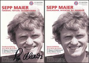 Bayern Erlebniswelt, 2014, 'Sepp Maier - Torwart, Tüftler, Tausendsassa'