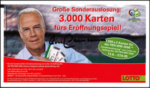Beckenbauer, 2005, Lotto, Flyer