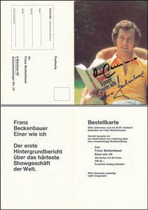 Beckenbauer, 1975, 'Einer wie ich', Klappkarte, MIT Druck-AG