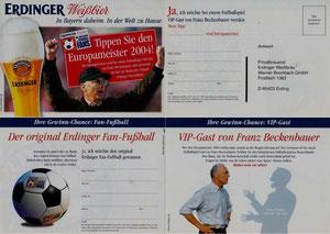 Beckenbauer, 2005, Erdinger, Klappkarte, Dank an SF Norbert