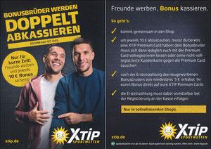 Podolski, 2018, XTip 'Bonusbrüder werden - doppelt abkassieren'
