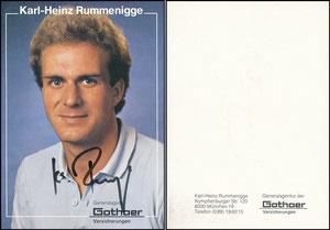 Rummenigge, 1981, Gothaer 'Standard Adresse', ohne Druck-AG