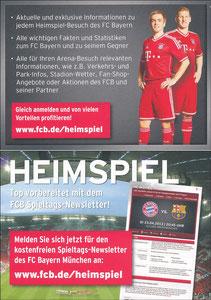 Bayern München, 2013, 'Heimspiel - Newsletter'