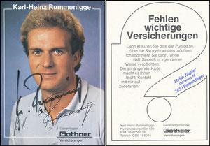 Rummenigge, 1981, Gothaer 'Fehlen wichtige Versicherungen', mit Druck-AG,