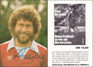 Breitner, 1980, Copress-Verlag, Buchwerbung, Dan an SF Klaus
