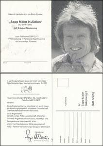Maier, 1982, Vorsitzender 'Ring selbstst. Verm.Berater', Klappkarte