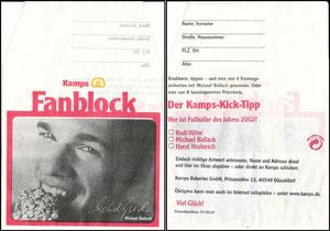 Ballack, 2002, Kamps Fanblock, Gebäcktüte