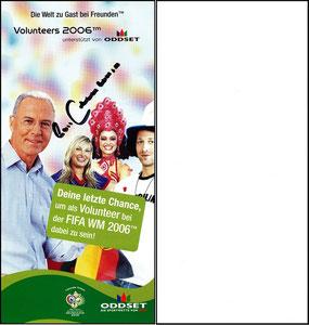 Beckenbauer, 2005, WM Volunteers-Flyer 1 WM 2006