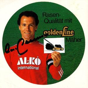 Beckenbauer, 1983, Al_ko Rasenmäher, Aufkleber