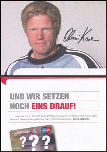 Hypovereinsbank, 2008, 'Oliver Kahn' Abschiedsplakat-Gewinnspiel