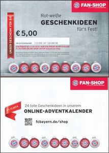 FanShop, 2014, Gutschein 'Weihnachten'
