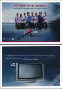 DFB, 2006, LG-Fernseher, signiert Kahn