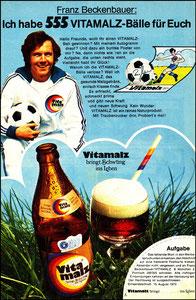 Beckenbauer, 1973, Vitamalz, Zeitungswerbung, Motiv 1