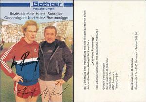 Rummenigge, 1981, Gothaer 'Bezirksdirektor Schneller'