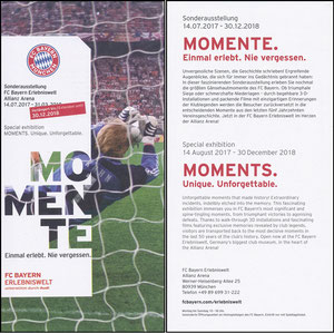 Bayern Erlebniswelt, 2018, 'Momente', Verlängerungs-Flyer, Kahn