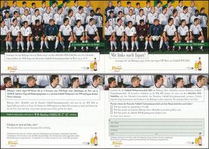 DFB, 2002, Bitburger Klappkarte