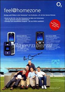 Beckenbauer, 2006, O², Werbeblatt, A4., mit Maier usw