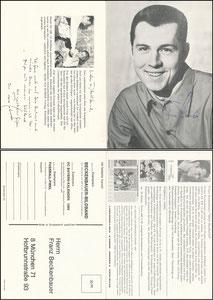 Beckenbauer, 1968, Komar, Klappkarte ('12,80 DM')