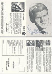 Maier, 1971, Komar, Klappkarte