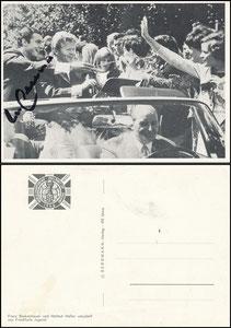"""Bergmann, 1966, """"WM 1966"""", Beckenbauer """"Motiv: Autokorso in der Heimat, mit Helmut Haller"""""""