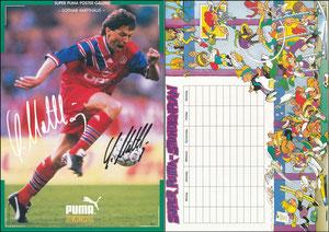Matthäus, 1994, Puma 'King', Stundenplan A 4, signiert Matthäus
