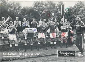 Mannschaftskarte 1968, 'Abendzeitung', A4, kpl. signiert