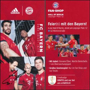 FanShop, 2018, Pokalfinale Berlin, signiert Müller im Dez. 2018 und Robben im Febr. 2019
