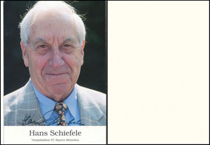 Schiefele, um 2002, Funktionärskarte