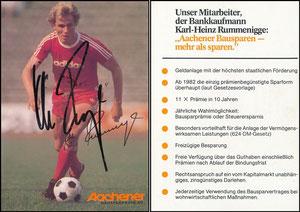 Rummenigge, 1976, Aachener Bausparkasse '11x Prämie', mit Druck-AG