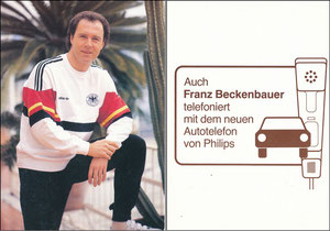 Beckenbauer, 1986, Philips Autotelefon, DFB-Dress