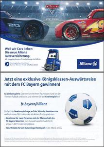 Allianz, 2017, Gewinnspiel 'Cars'