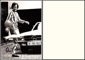 Beckenbauer, 1974, Mercedes-Benz, sw-Karte