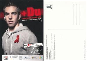 Lahm, 2008, Welt-Aids-Tag 2008, mit 'DJH' (unbekannte Freecard)
